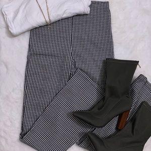 Plaid High-Waisted Pants
